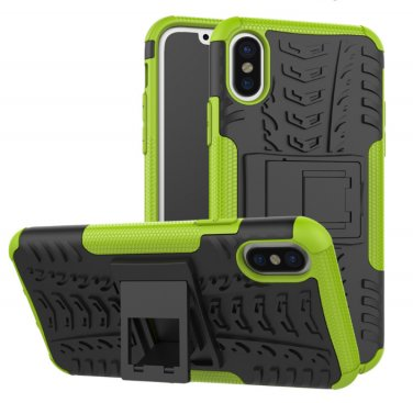 Cover For Apple iPhone 8 Case 5.8'' for iPhone8 Cover Rugged Armor Mobile Phone Cases (Green)