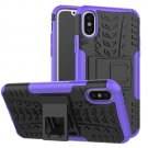 Cover For Apple iPhone 8 Case 5.8'' for iPhone8 Cover Rugged Armor Mobile Phone Cases (Purple)