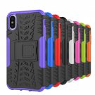 50PCS Case for iPhone 8 Armor Slim 2 in1 Kickstand PC TPU Shockproof Case Cover