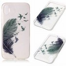 iPhone 8 Case New Arrival Hot Soft TPU Flowers Butterfly Painted Phone Skin Transparent Clear (15)