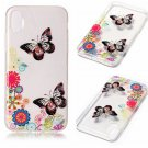 iPhone 8 Case New Arrival Hot Soft TPU Flowers Butterfly Painted Phone Skin Transparent Clear (14)