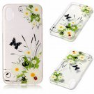 iPhone 8 Case New Arrival Hot Soft TPU Flowers Butterfly Painted Phone Skin Transparent Clear (8)