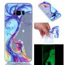 Samsung S8 Plus Case Cute Cartoon Soft Silicone TPU Back Luxury Luminous Phone Cover (4)