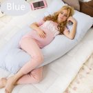 Maternity U Shaped Body Pillows Body Pregnancy Pillow For Side Sleeper Removable Cover 130*70