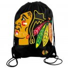 35*45 cm Chicago Blackhawks backpack bag with rope Metal Grommets
