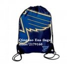 35*45 cm knitted polyester St. Louis Blues drawstring backpack With Metal Grommets
