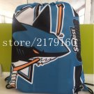 35*45 cm knitted polyesterwholesale drawstring backpack San Jose Sharks bag