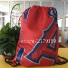 35*45 cm knitted polyester Los Angeles Angels drawstring backpack Metal Grommets