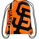 SF giant logo drawstring backpack made knitted polyester with black rope Metal Grommets
