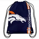 35*45 cm cool style knitted polyester Denver Broncos drawstring backpack with rope