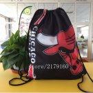 35*45 cm team color Chicago Bulls drawstring backpack Metal Grommets