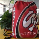 Knitted polyester outdoor use San Francisco 49ers drawstring backpack Metal Grommets