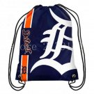35*45 cm knitted polyester Detroit Tigers drawstring backpack Metal Grommets