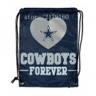 35*45 cm new design knitted polyester Dallas Cowboys drawstring backpack