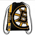 35*45 cm digital printing knitted polyester Boston Bruins drawstring backpack