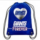 Knitted polyester NY New York Giants Big Logo Side Stripe DrawString Backpack Backsack Bag