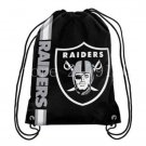 35*45 cm knitted polyester Oakland Raiders drawstring backpack with Metal Grommets