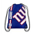 NY New York Giants Big Logo Side Stripe DrawString Backpack Backsack Bag