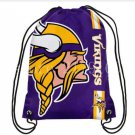 35*45 cm Promotion Minnesota Vikings drawstring backpack with rope free shipping