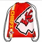 35*45 cm drawstring backpack Kansas City Chiefs bag with knitted polyester material
