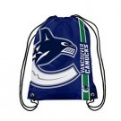 35*45 knitted polyester Vancouver Canucks backpack sports custom with metal Grommets