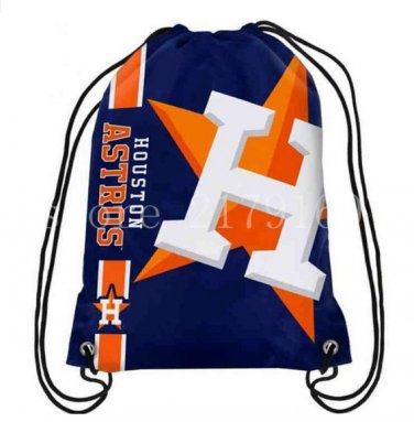 35*45 cm digital printing knitted polyester Houston Astros drawstring backpack