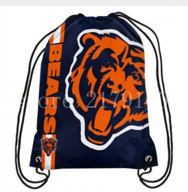 35*45 cm digital printing knitted polyester Chicago Bears drawstring backpack