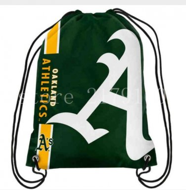 35*45 cm knitted polyester Oakland A's Athletics backpack bagsin drawstring backpack