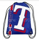35*45 cm knitted polyester texas rangers drawstring backpack sports bag