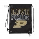 35*45 cm Knitted Polyester Purdue Boilermakers Women's Love Drawstring Backpack