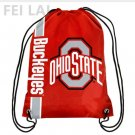 Knitted Polyester NCAA Drawstring Backpack - Ohio State University Octer bag