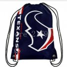35*45 cm knitted polyester Houston Texans drawstring backpack with Metal Grommets