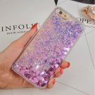 Love Heart Glitter Stars Dynamic Liquid Quicksand Soft TPU Back Cover Case For Iphone 5 6 7 Plus