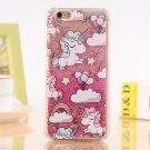 Case Cover Lovely Unicorn Dynamic Liquid Bling Star For iPhone 5 5s 5se 6 6s 7 7 Plus