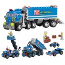 163pcs DIY Transport Dumper Truck Assembling Toys Small Particles Building Blocks