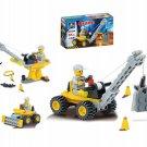 51pcs/set Mini Crane DIY Assembly Building Blocks Kits Children Educational Puzzle Toys