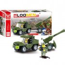 93pcs Field Armies Assemble Toy Early Educational Cannon Small Particles Building Blocks
