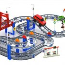 Kids Multilayer Electric Rail Car Construction Vehicles Toy Assembled Puzzle Train Track Building