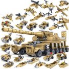 544pcs Brand Compatible Army Series 16 in 1 Super Fire Tank Assembly Transformation Toy