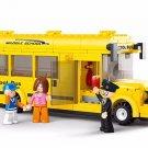 218pcs/set School Bus Building Blocks Enlightenment Puzzle Toys