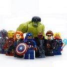 8pcs/lot Iron-Man & Hulk & Thor & Captain America Characters Assemble Building Blocks Toys