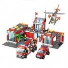 774pcs Brand Compatible City Fire Station Building Blocks Toy Brick Firefighter Truck Toys