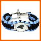 NFL CAROLINA PANTHERS BOWL SPORTS BRACELET ADJUSTABLE SURVIVAL BRACELET