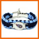 NFL TENNESSEE TITANS SUPER BOWL SPORTS BRACELET ADJUSTABLE SURVIVAL BRACELET