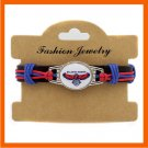 NBA NEW ATLANTA HAWKS TEAM PARACORD BRACELET LEATHER BASKETBALL