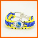 GOLDEN STATE WARRIORS BASKETBALL SPORTS BRACELET ADJUSTABLE SURVIVAL BRACELET