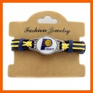 TOP QUALITY NBA.CHARLOTTE BOBCATS BASKETBALL TEAM GENUINE LEATHER BRACELET