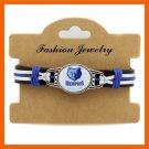 BEST FASHION NBA NEW MEMPHIS GRIZZLIES TEAM GENUINE LEATHER BRACELET
