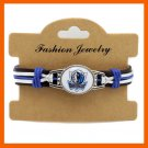DALLAS MAVERICKS GENUINE LEATHER BRACELET LEATHER BRACELET BASKETBALL