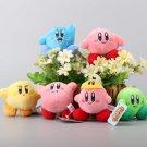 6 Pcs/Set Star Kirby Plush Toys Cute Keychain Popopo Small Pendant Dolls Kids Gift 7cm